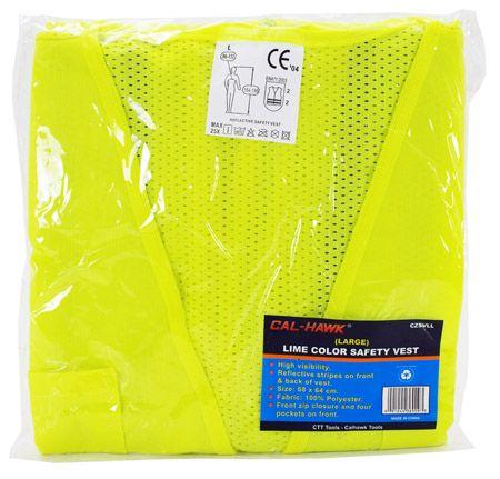 Lime Color Safety Vest - Large