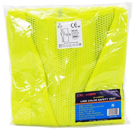 Lime Color Safety Vest - X-Large