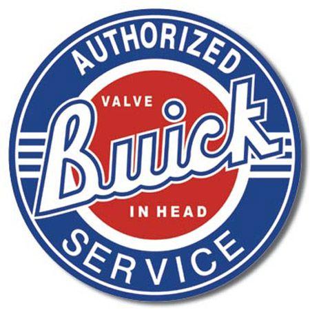 Buick - Service Round Tin Sign