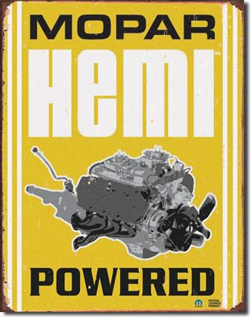 Mopar Hemi Powered Tin Sign