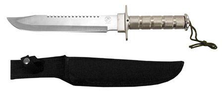 "16"" Survival Knife - Silver"