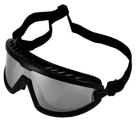 Black/Silver Mirrored Safety Goggles