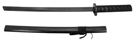 "30"" Wooden Practice Samurai Sword - Black"