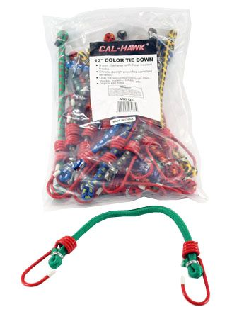 """20-pc. 12"""" Color Bungee Tie Down"""