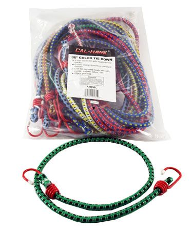 """20-pc. 36"""" Color Bungee Tie Down"""