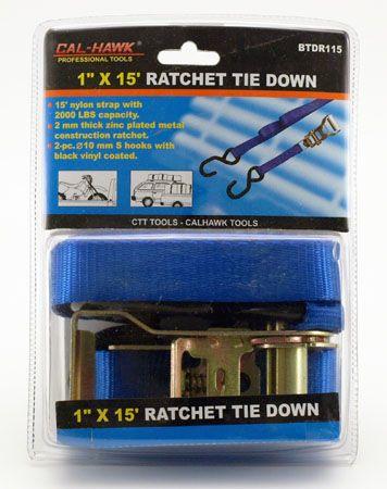 """15' x 1"""" Ratchet Tie Down"""