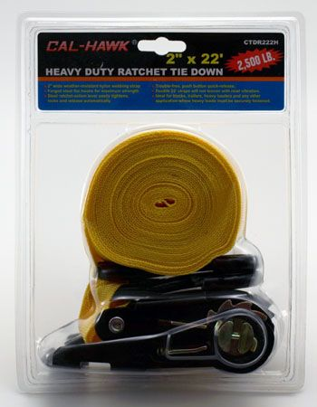 "22' x 2"" Heavy Duty Ratchet Tie Down"