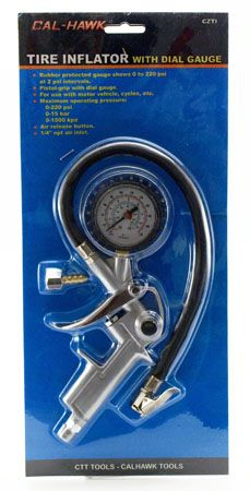 Tire Inflator with Dial Gauge