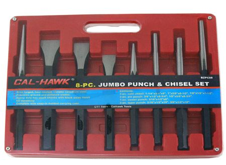 8-pc. Jumbo Punch and Chisel Set
