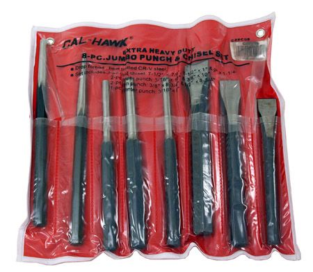 8-pc. Heavy Duty Punch and Chisel Set