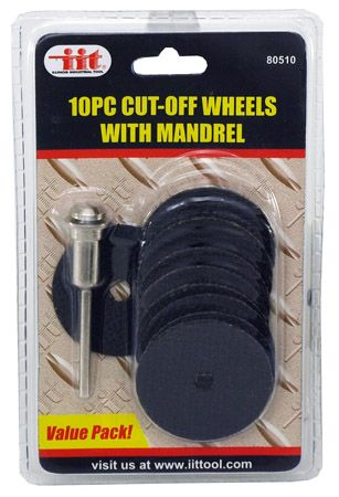 """10-pc. 1-1/2"""" Cut-Off Wheels with Mandrel"""