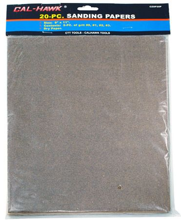 20-pc. Sanding Papers