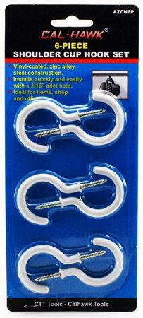 6-pc. Shoulder Cup Hook Set