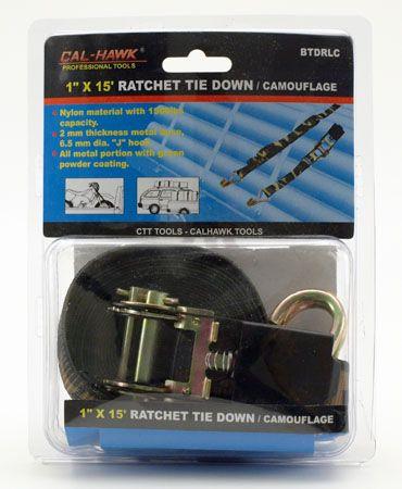 "15' x 1"" Camouflage Ratchet Tie Down"