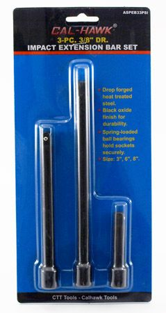 "3-pc. 3/8"" Drive Impact Extension Bar Set"