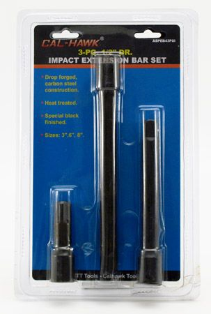 "3-pc. 1/2"" Drive Impact Extension Bar Set"