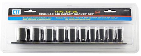 "11-pc. 1/2"" Drive Regular Air Impact SAE Socket Set"