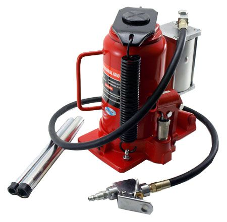 20 Ton Air/Manual Hydraulic Bottle Jack