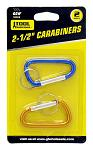 "2 - pk. 2.5"" Carabiners - (Assorted Colors)"