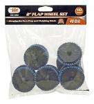 "10 - pc. 2"" Flap Wheel Set - 40 Grit"