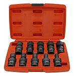 "Cal-Hawk 10 - pc. 1/2"" Dr. Shallow Universal Impact Socket Set - SAE"