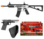 Crosman Elite Cammando Kit - Spring Powered Airsoft Rifle and Handgun