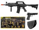 Game Face Spring Powered AR-15 and Handgun Airsoft Kit