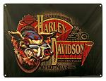 Harley Davidson No Boundries Hog Tin Sign