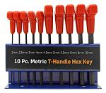 10 - pc. Hiltex Metric T-Handle Hex Key Set