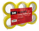 3M Scotch 311 Carton Sealing Tape - Yellow
