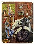 Harley Davidson Curious Kids Tin Sign