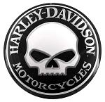 Harley Davidson Willy Skull Round Tin Sign