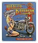 Harley Davidson Mechanic Babe Tin Sign