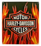 Harley Davidson Flame Logo Tin Sign