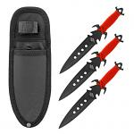 3 - pc. Throwing Knives Set with Nylon Carrying Sheath - Black