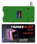 Thunder Blast Stun Gun Flashlight with Carrying Case - Green