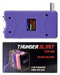 Thunder Blast Stun Gun Flashlight with Carrying Case - Purple