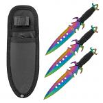 3 - pc. Throwing Knives Set with Nylon Carrying Sheath - Titanium