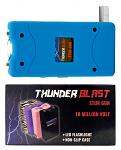 Thunder Blast Stun Gun Flashlight with Carrying Case - Blue