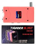 Thunder Blast Stun Gun Flashlight with Carrying Case - Pink