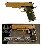 Spartan STS-7 Desert 1911 MEU GBB Airsoft Handgun - Tan