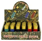 24 - pc. Shotgun Shell Folding Pocket Knife Display Set