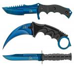 3 - pc. Tactical Knife Collection - Blue