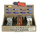 12 - pc. Folding Pocket Knife Countertop Display - Wild Animals