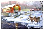 "24"" x 16"" LED Canvas Wall Art - Holiday Traditions"