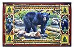 Bear Scene - Black Bear Welcome Door Mat