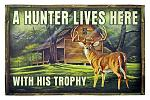 Hunter with his Trophy - Deer Welcome Door Mat