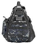 Military Sling Backback - Blue Digital Camo