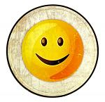 Smile Emoji - Round Tin Sign