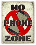 No Phone Zone - Tin Sign